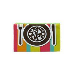 Dinerplate Tablemaner Food Fok Knife Cosmetic Bag (xs) by Mariart