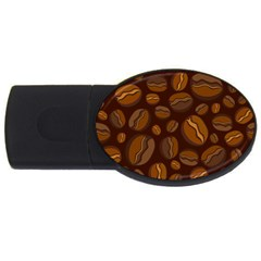 Coffee Beans Usb Flash Drive Oval (2 Gb) by Mariart