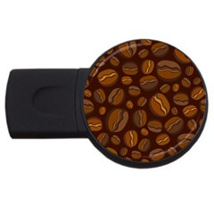 Coffee Beans Usb Flash Drive Round (4 Gb) by Mariart