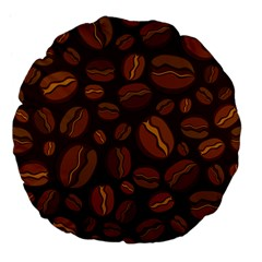 Coffee Beans Large 18  Premium Flano Round Cushions by Mariart