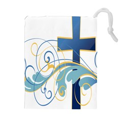 Easter Clip Art Free Religious Drawstring Pouches (extra Large) by Mariart