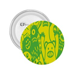 Easter Monster Sinister Happy Green Yellow Magic Rock 2 25  Buttons by Mariart