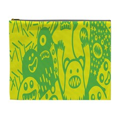 Easter Monster Sinister Happy Green Yellow Magic Rock Cosmetic Bag (xl) by Mariart