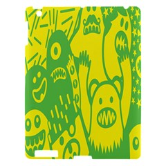 Easter Monster Sinister Happy Green Yellow Magic Rock Apple Ipad 3/4 Hardshell Case by Mariart