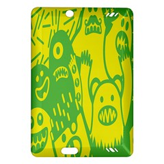 Easter Monster Sinister Happy Green Yellow Magic Rock Amazon Kindle Fire Hd (2013) Hardshell Case by Mariart