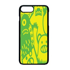 Easter Monster Sinister Happy Green Yellow Magic Rock Apple Iphone 7 Plus Seamless Case (black) by Mariart