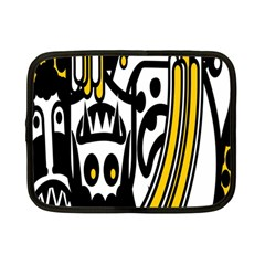 Easter Monster Sinister Happy Magic Rock Mask Face Polka Yellow Netbook Case (small)  by Mariart