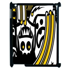 Easter Monster Sinister Happy Magic Rock Mask Face Polka Yellow Apple Ipad 2 Case (black) by Mariart