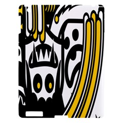 Easter Monster Sinister Happy Magic Rock Mask Face Polka Yellow Apple Ipad 3/4 Hardshell Case by Mariart