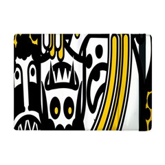 Easter Monster Sinister Happy Magic Rock Mask Face Polka Yellow Apple Ipad Mini Flip Case by Mariart