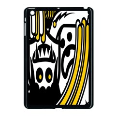 Easter Monster Sinister Happy Magic Rock Mask Face Polka Yellow Apple Ipad Mini Case (black) by Mariart