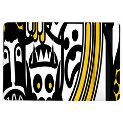 Easter Monster Sinister Happy Magic Rock Mask Face Polka Yellow Ipad Air 2 Flip by Mariart