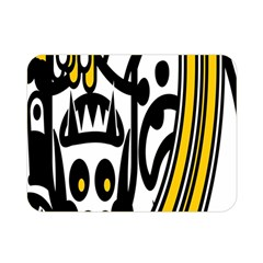 Easter Monster Sinister Happy Magic Rock Mask Face Polka Yellow Double Sided Flano Blanket (mini)  by Mariart