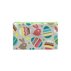 Easter Rabbit Bunny Rainbow Cosmetic Bag (xs) by Mariart