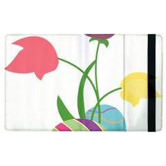 Eggs Three Tulips Flower Floral Rainbow Apple Ipad 2 Flip Case by Mariart
