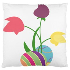 Eggs Three Tulips Flower Floral Rainbow Standard Flano Cushion Case (two Sides) by Mariart