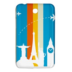 Eiffel Tower Monument Statue Of Liberty Samsung Galaxy Tab 3 (7 ) P3200 Hardshell Case  by Mariart