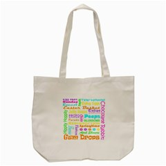 Easter Subway Blossoms Color Rainbow Chocolate Tote Bag (cream) by Mariart