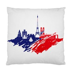 Eiffel Tower Monument Statue Of Liberty France England Red Blue Standard Cushion Case (one Side) by Mariart