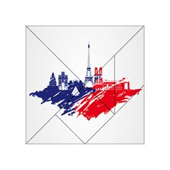 Eiffel Tower Monument Statue Of Liberty France England Red Blue Acrylic Tangram Puzzle (4  X 4 ) by Mariart