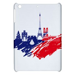 Eiffel Tower Monument Statue Of Liberty France England Red Blue Apple Ipad Mini Hardshell Case by Mariart