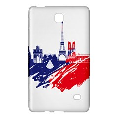Eiffel Tower Monument Statue Of Liberty France England Red Blue Samsung Galaxy Tab 4 (8 ) Hardshell Case  by Mariart