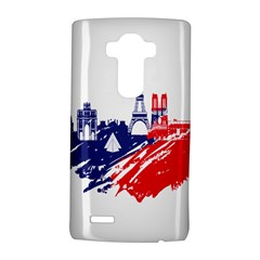 Eiffel Tower Monument Statue Of Liberty France England Red Blue Lg G4 Hardshell Case by Mariart