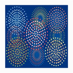 Fireworks Party Blue Fire Happy Medium Glasses Cloth by Mariart