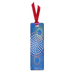 Fireworks Party Blue Fire Happy Small Book Marks by Mariart