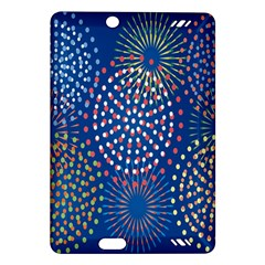 Fireworks Party Blue Fire Happy Amazon Kindle Fire Hd (2013) Hardshell Case by Mariart