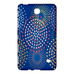 Fireworks Party Blue Fire Happy Samsung Galaxy Tab 4 (7 ) Hardshell Case  by Mariart