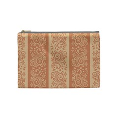 Flower Floral Leaf Frame Star Brown Cosmetic Bag (medium)  by Mariart