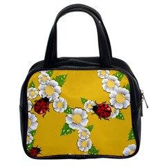 Flower Floral Sunflower Butterfly Red Yellow White Green Leaf Classic Handbags (2 Sides) by Mariart