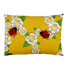 Flower Floral Sunflower Butterfly Red Yellow White Green Leaf Pillow Case by Mariart