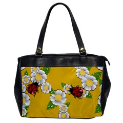 Flower Floral Sunflower Butterfly Red Yellow White Green Leaf Office Handbags by Mariart