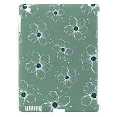 Flower Floral Sakura Sunflower Rose Blue Apple Ipad 3/4 Hardshell Case (compatible With Smart Cover) by Mariart
