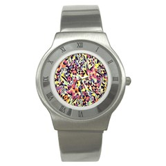 French Crepe Colour Pink Stainless Steel Watch by Mariart