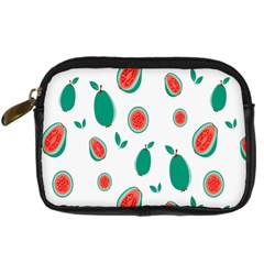 Fruit Green Red Guavas Leaf Digital Camera Cases by Mariart