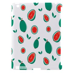 Fruit Green Red Guavas Leaf Apple Ipad 3/4 Hardshell Case (compatible With Smart Cover) by Mariart