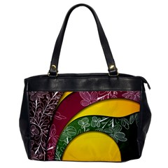 Flower Floral Leaf Star Sunflower Green Red Yellow Brown Sexxy Office Handbags by Mariart