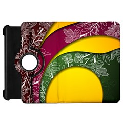 Flower Floral Leaf Star Sunflower Green Red Yellow Brown Sexxy Kindle Fire Hd 7  by Mariart