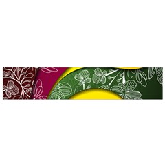 Flower Floral Leaf Star Sunflower Green Red Yellow Brown Sexxy Flano Scarf (small) by Mariart