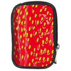 Fruit Seed Strawberries Red Yellow Frees Compact Camera Cases by Mariart