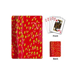 Fruit Seed Strawberries Red Yellow Frees Playing Cards (mini)  by Mariart
