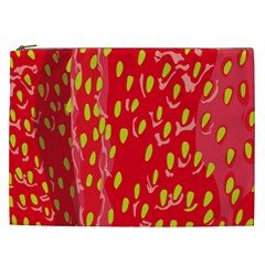 Fruit Seed Strawberries Red Yellow Frees Cosmetic Bag (xxl)  by Mariart