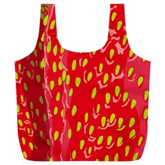 Fruit Seed Strawberries Red Yellow Frees Full Print Recycle Bags (l)  by Mariart