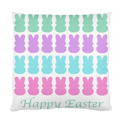 Happy Easter Rabbit Color Green Purple Blue Pink Standard Cushion Case (one Side) by Mariart