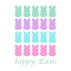 Happy Easter Rabbit Color Green Purple Blue Pink Shower Curtain 48  X 72  (small)  by Mariart