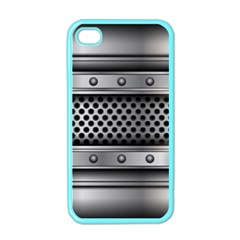 Iron Content Hole Mix Polka Dot Circle Silver Apple Iphone 4 Case (color) by Mariart