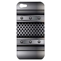 Iron Content Hole Mix Polka Dot Circle Silver Apple Iphone 5 Hardshell Case by Mariart